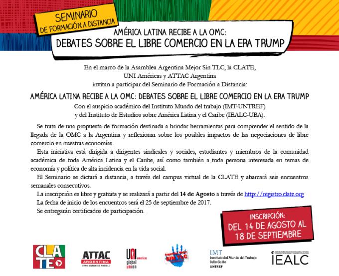 formacion CLATE seminario virtual 2017