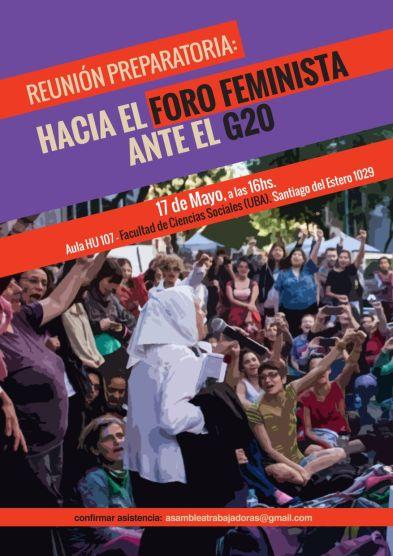 flyer foro feminista